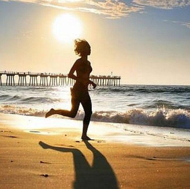 Running on the beach at dawn is one of life's great experiences. There is no better way to start the day.