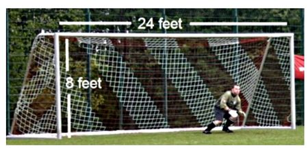 Widening the soccer goals by a yard on each side would boost the number of goals score and would be better for fans and players