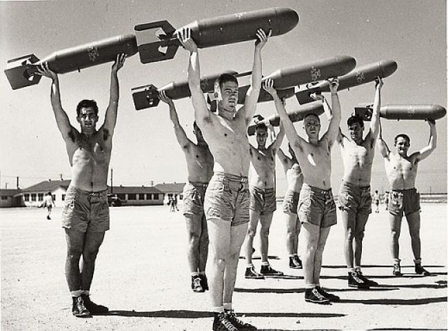 Callisthenics was very popular during the War years