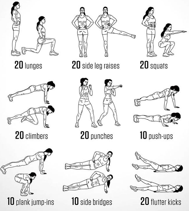 Callisthenics exercise routine for personal training