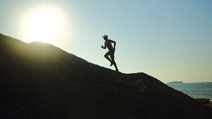 Running up hills is a great way to build your aerobic capacity and endurance