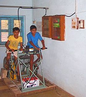 Pedal power electricity supply