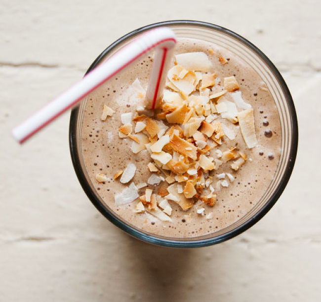 Coffee, Banana, and Hazelnut Morning Shake Recipe