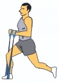 Lunges Exercise with the Resistance Bands