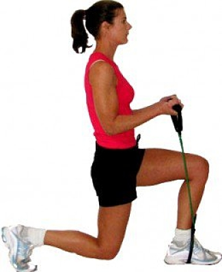 ou can use resistance bands in your own home for a quick workout