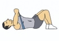 Alternate Chest Presses Exercise while lying down
