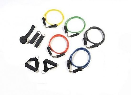 Resistance bands come in all shapes and sizes, and in various strengths. They are so cheap you can afford to have one in your home, office and travelling bag for vacations and conferences. You can use stronger cords as your strength improves