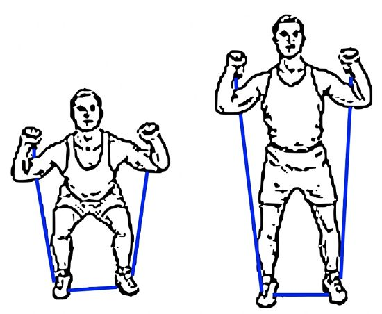 Using resistance bands for leg exercises