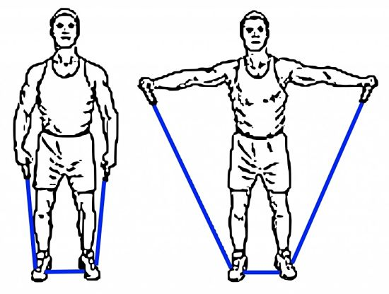 Simple exercise for the arms and shoulders