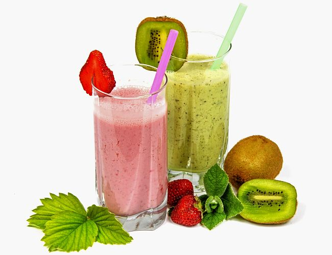 Strawberry and Kiwi fruit are a lovely based for homemade energy drinks