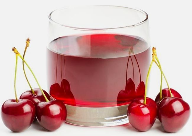 Fresh cherries make a delightful energy drink