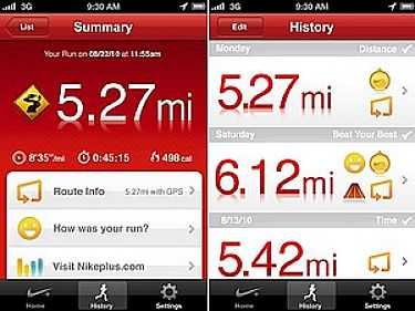 Running App screen shot 1
