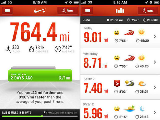 Running App screen shot 4.