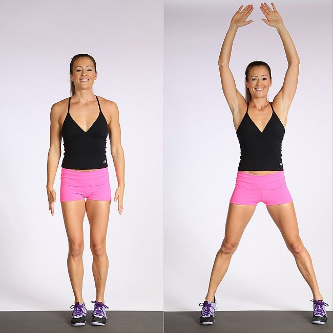 Jumping Jack Warm up and cardiovascular exercise