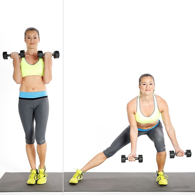 Low Side-to-Side Lunge Conditioning Exercise Using Hand Weights