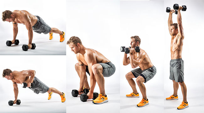 The Combo Muscle Maker Conditioning Exercise Using Hand Weights