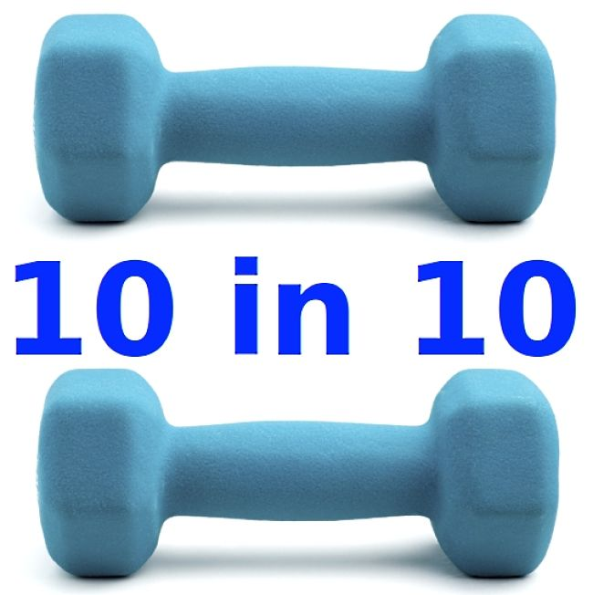 10 in 10 minute Strength and Muscle Building Exercises