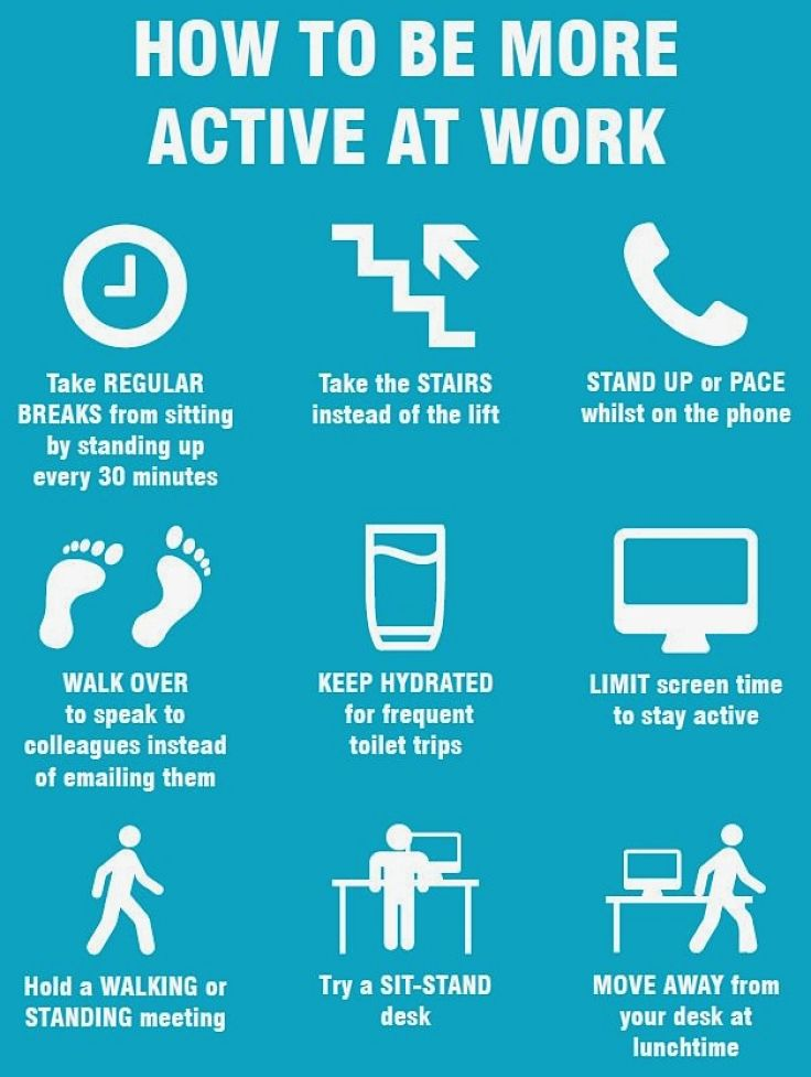 Tips to stay active at work - Try some today!