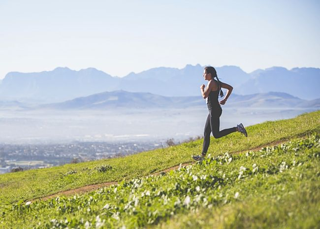 Beware that downhill can be very tough on your knees and leg muscles, despite the wonderful view.